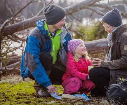 Luonnossa liikkuminen on kivaa koko perheen voimin